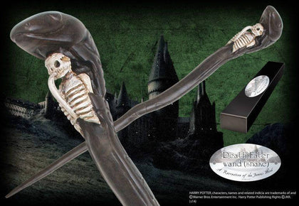 Official Death Eater Character Wand - Snake at the best quality and price at House Of Spells- Harry Potter Themed Shop In London. Get Your Death Eater Character Wand - Snake now with 15% discount using code FANDOM at Checkout. www.houseofspells.co.uk.