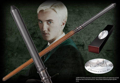 Official Draco Malfoy Character Wand at the best quality and price at House Of Spells- Harry Potter Themed Shop In London. Get Your Draco Malfoy Character Wand now with 15% discount using code FANDOM at Checkout. www.houseofspells.co.uk.