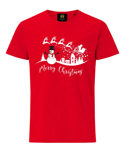 Christmas Landscape T-Shirt -Red