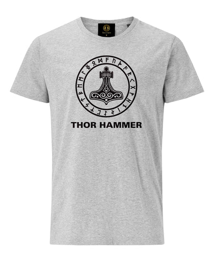 Thor Hammer Printed T-shirt- Grey