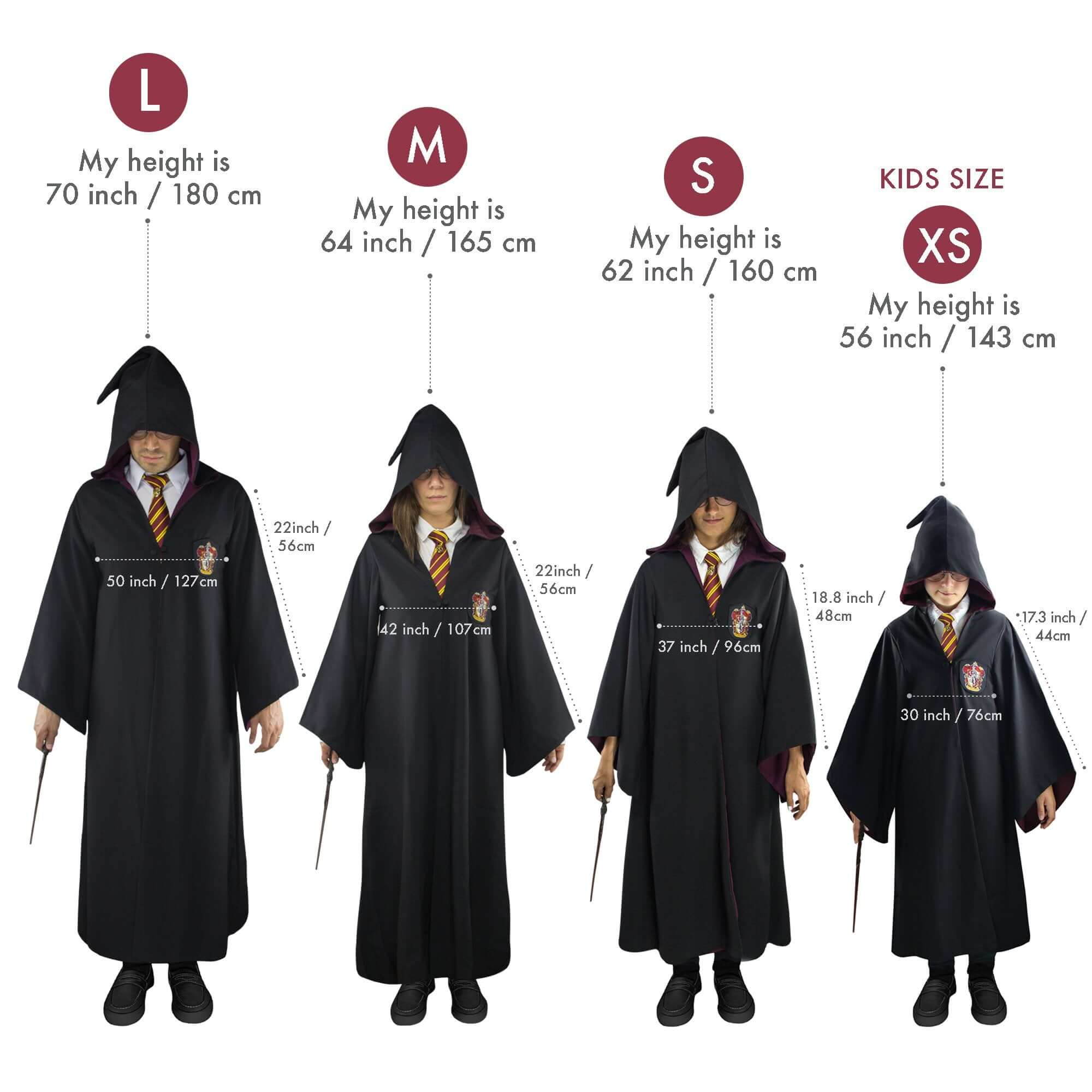 Adults Gryffindor Robe Harry Potter House Of Spells Fandom Collectables Shop
