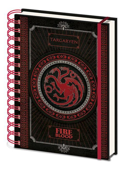 Official Game of Thrones (Targaryen)-A5 Wiro Notebook at the best quality and price at House Of Spells- Fandom Collectable Shop. Get Your Game of Thrones (Targaryen)-A5 Wiro Notebook now with 15% discount using code FANDOM at Checkout. www.houseofspells.co.uk.