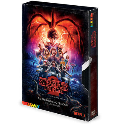 Stranger Things Season 2 VHS Premium A5 Notebook