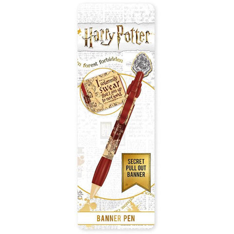 Harry Potter Marauder's Map Pen With Banner - House Of Spells