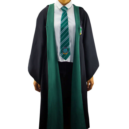 Official Adults Slytherin Robe at the best quality and price at House Of Spells- Harry Potter Themed Shop In London. Get Your Adults Slytherin Robe now with 15% discount using code FANDOM at Checkout. www.houseofspells.co.uk.