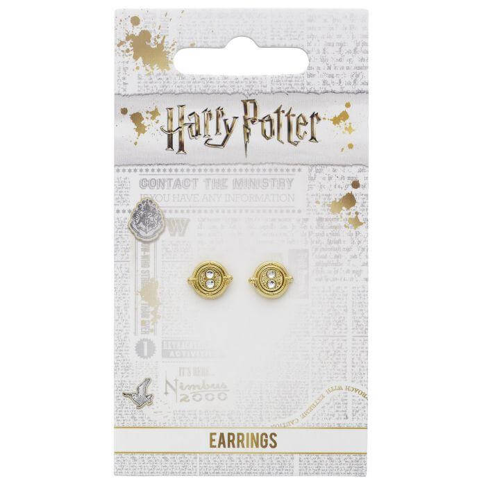 Time Turner Gold Plated Stud Earrings