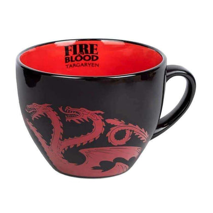 Official GAME OF THRONES (TARGARYEN) CAPPUCCINO MUG at the best quality and price at House Of Spells- Harry Potter Themed Shop In London. Get Your GAME OF THRONES (TARGARYEN) CAPPUCCINO MUG now with 15% discount using code FANDOM at Checkout. www.houseofspells.co.uk.
