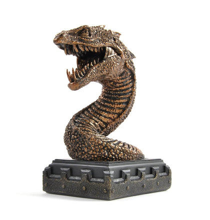 Official Basilisk Bookend at the best quality and price at House Of Spells- Harry Potter Themed Shop In London. Get Your Basilisk Bookend now with 15% discount using code FANDOM at Checkout. www.houseofspells.co.uk.