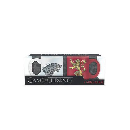 Official Game of Thrones Espresso Mug Set - Stark & Lannister at the best quality and price at House Of Spells- Harry Potter Themed Shop In London. Get Your Game of Thrones Espresso Mug Set - Stark & Lannister now with 15% discount using code FANDOM at Checkout. www.houseofspells.co.uk.