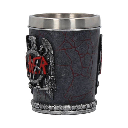 Official Slayer Shot Glass- Single at the best quality and price at House Of Spells- Fandom Collectable Shop. Get Your Slayer Shot Glass- Single now with 15% discount using code FANDOM at Checkout. www.houseofspells.co.uk.
