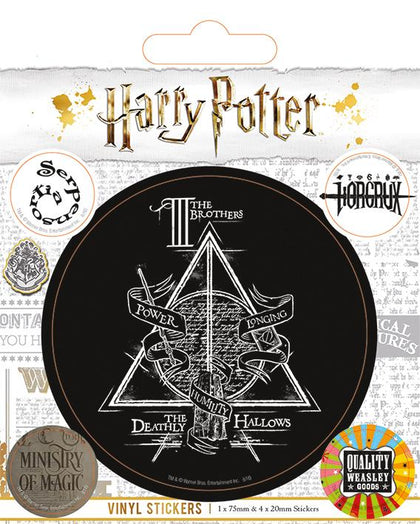 Official Harry Potter Symbols Vinyl Sticker at the best quality and price at House Of Spells- Fandom Collectable Shop. Get Your Harry Potter Symbols Vinyl Sticker now with 15% discount using code FANDOM at Checkout. www.houseofspells.co.uk.