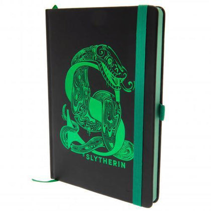 Official Harry Potter Slytherin Foil Premium A5 Notebook at the best quality and price at House Of Spells- Harry Potter Themed Shop In London. Get Your Harry Potter Slytherin Foil Premium A5 Notebook now with 15% discount using code FANDOM at Checkout. www.houseofspells.co.uk.