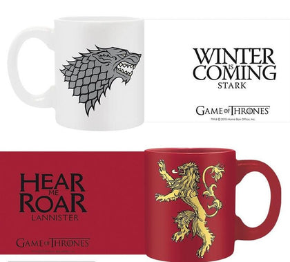 Official Game of Thrones Espresso Mug Set - Stark & Lannister at the best quality and price at House Of Spells- Fandom Collectable Shop. Get Your Game of Thrones Espresso Mug Set - Stark & Lannister now with 15% discount using code FANDOM at Checkout. www.houseofspells.co.uk.
