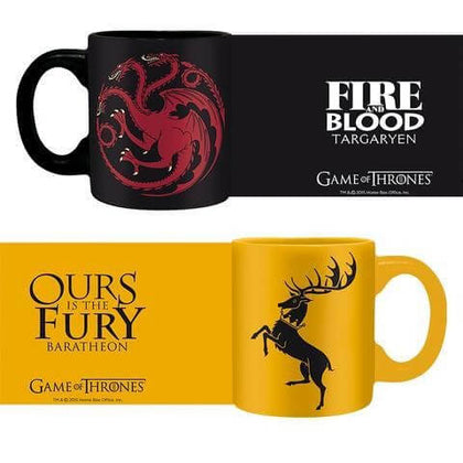 Official Game of Thrones espresso mugs Targaryen & Baratheon set at the best quality and price at House Of Spells- Fandom Collectable Shop. Get Your Game of Thrones espresso mugs Targaryen & Baratheon set now with 15% discount using code FANDOM at Checkout. www.houseofspells.co.uk.
