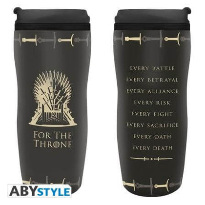 Official Game of Thrones Travel mug Throne at the best quality and price at House Of Spells- Fandom Collectable Shop. Get Your Game of Thrones Travel mug Throne now with 15% discount using code FANDOM at Checkout. www.houseofspells.co.uk.