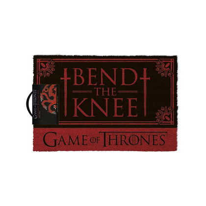Official Game Of Thrones - Bend The Knee Door Mat Floor Mat (24x16in) at the best quality and price at House Of Spells- Harry Potter Themed Shop In London. Get Your Game Of Thrones - Bend The Knee Door Mat Floor Mat (24x16in) now with 15% discount using code FANDOM at Checkout. www.houseofspells.co.uk.