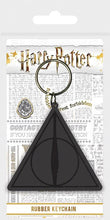 Load image into Gallery viewer, Deathly Hallows Rubber Keyring - House Of Spells- Harry Potter Themed Shop In London