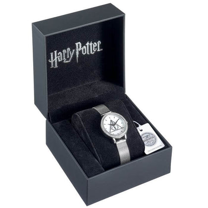 Harry Potter Deathly Hallows Silver Watch Embellished With Swarovski Crystals - House Of Spells