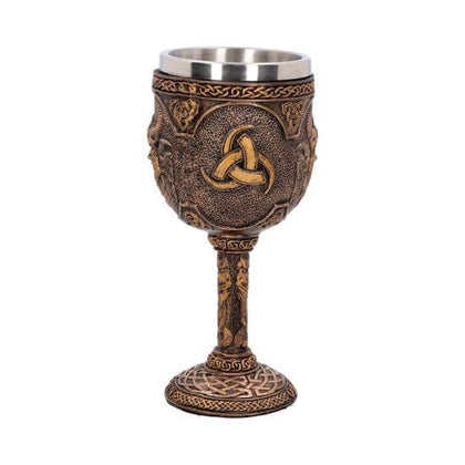 Official Odin Goblet 17cm at the best quality and price at House Of Spells- Harry Potter Themed Shop In London. Get Your Odin Goblet 17cm now with 15% discount using code FANDOM at Checkout. www.houseofspells.co.uk.