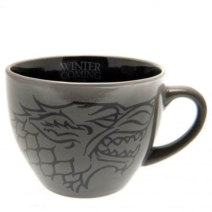 Official Game of Thrones (Stark) Cappuccino Mug at the best quality and price at House Of Spells- Harry Potter Themed Shop In London. Get Your Game of Thrones (Stark) Cappuccino Mug now with 15% discount using code FANDOM at Checkout. www.houseofspells.co.uk.