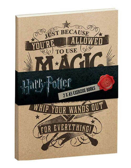 Official Allowed To Use Magic Exercise Notebook- Pack of 2 at the best quality and price at House Of Spells- Fandom Collectable Shop. Get Your Allowed To Use Magic Exercise Notebook- Pack of 2 now with 15% discount using code FANDOM at Checkout. www.houseofspells.co.uk.