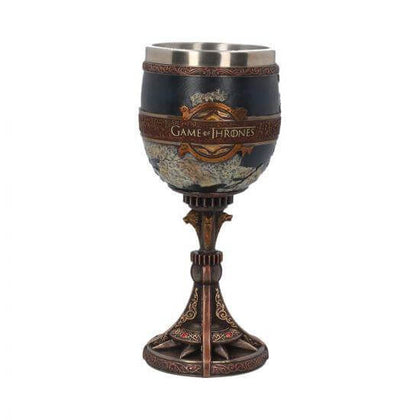 Official The Seven Kingdoms Goblet (GOT) 17.5cm with map on design at the best quality and price at House Of Spells- Fandom Collectable Shop. Get Your The Seven Kingdoms Goblet (GOT) 17.5cm with map on design now with 15% discount using code FANDOM at Checkout. www.houseofspells.co.uk.