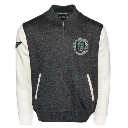 Official Harry Potter Slytherin Crest Varsity Jacket at the best quality and price at House Of Spells- Fandom Collectable Shop. Get Your Harry Potter Slytherin Crest Varsity Jacket now with 15% discount using code FANDOM at Checkout. www.houseofspells.co.uk.