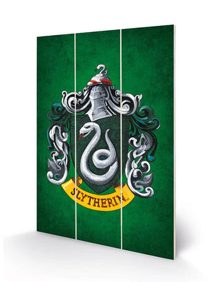 Official Slytherin House Crest Wooden Print at the best quality and price at House Of Spells- Fandom Collectable Shop. Get Your Slytherin House Crest Wooden Print now with 15% discount using code FANDOM at Checkout. www.houseofspells.co.uk.