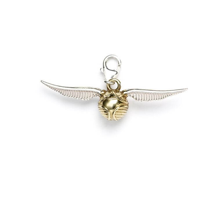 Golden Snitch Sterling Silver Clip on Charm
