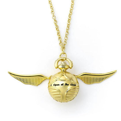 Official Golden Snitch Watch Necklace at the best quality and price at House Of Spells- Harry Potter Themed Shop In London. Get Your Golden Snitch Watch Necklace now with 15% discount using code FANDOM at Checkout. www.houseofspells.co.uk.