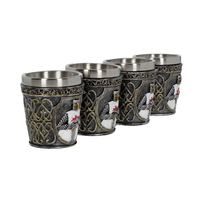 Official Templars Shot Glass - Single at the best quality and price at House Of Spells- Fandom Collectable Shop. Get Your Templars Shot Glass - Single now with 15% discount using code FANDOM at Checkout. www.houseofspells.co.uk.