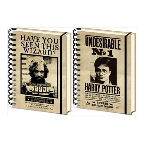 Harry Potter Sirius & Harry 3D Cover A5 Wiro Notebook - House Of Spells