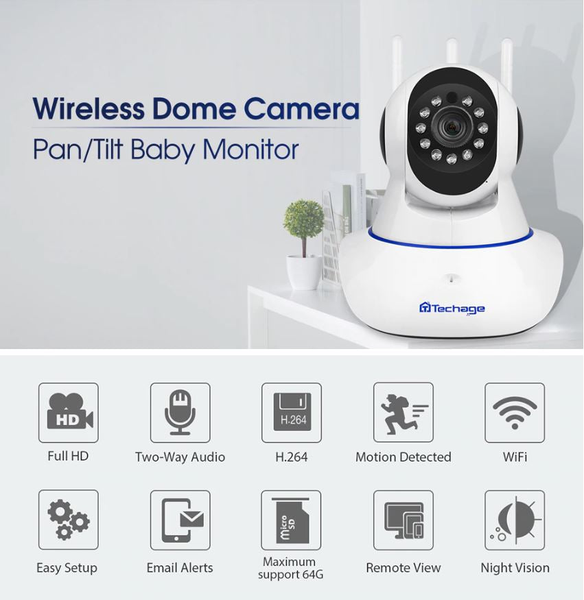 Security Surveillance Indoor Two Way Audio CCTV WiFi Wireless IP Camera - Morpheus Box