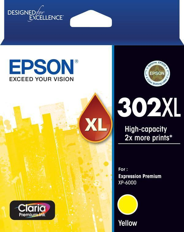 302XL Yellow Ink Claria Premium - XP-6000 XP-6100