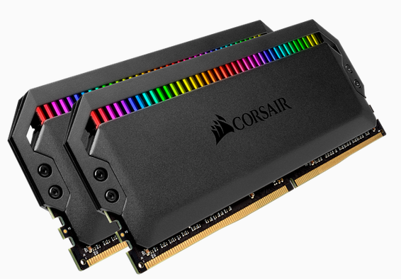 CORSAIR DOMINATOR PLATINUM RGB  DDR4, 3200MHz 16GB 2x8GB DIMM, Unbuffered, 16-18-18-36, XMP 2.0, Black Heatspreader, RGB LED, 1.35V