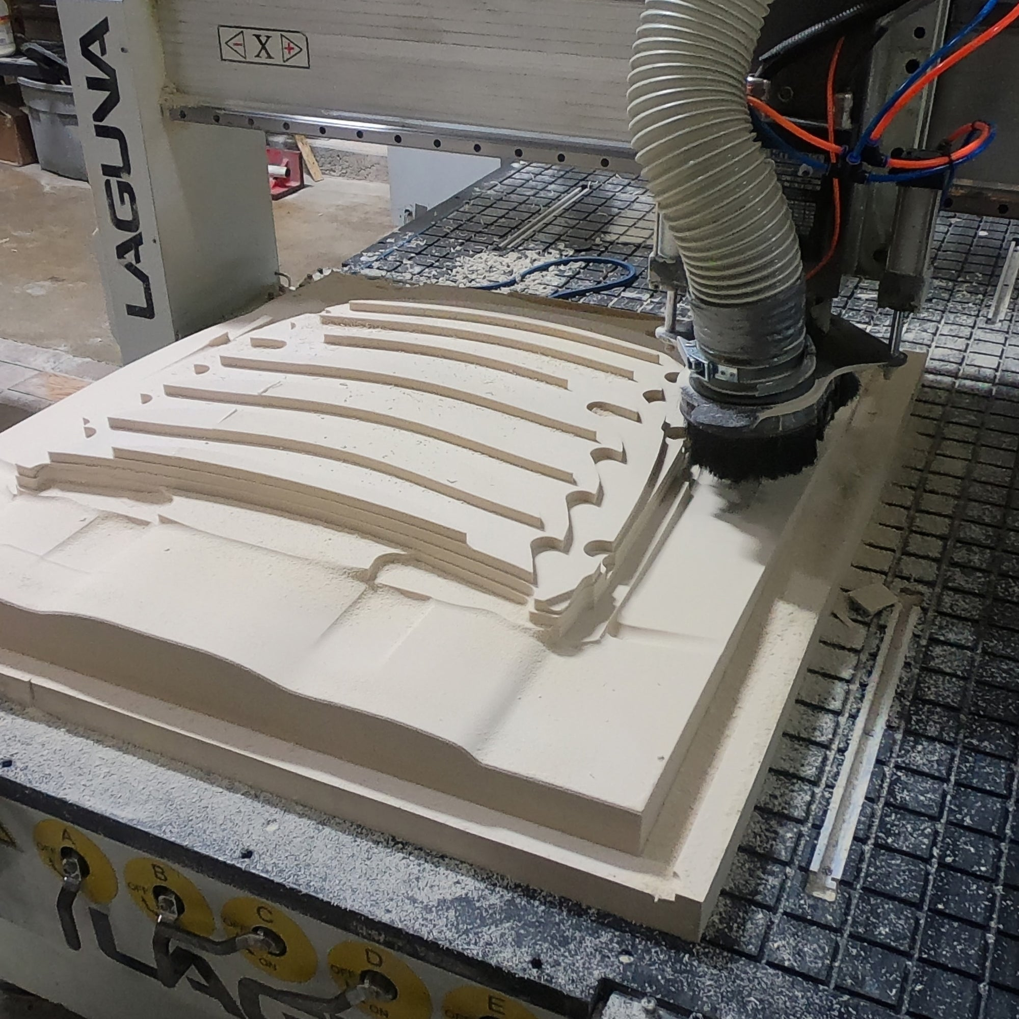 Hood vent plug on Laguna CNC bed