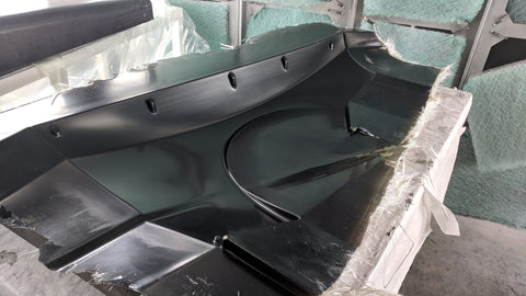 Untrimmed Fiberglass Mold for Carbon Fiber Fender