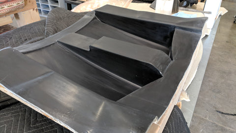 Fiberglass Mold for Carbon Fiber Lower Rear Fender