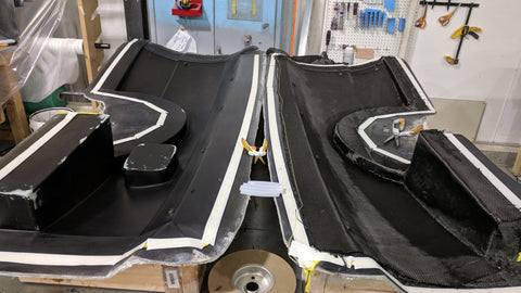 Fiberglass Mold for Carbon Fiber Rear Fenders