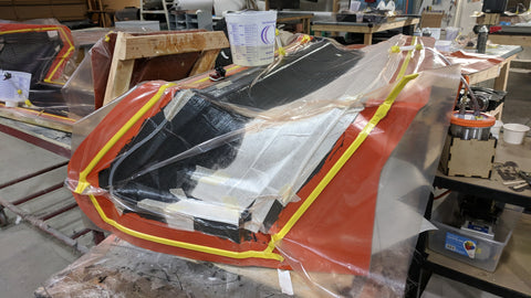 Carbon Fiber Infusion Layup for a Spoiler Wing
