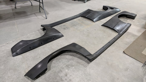 Carbon Fiber Widebody Fenders and Side Runners