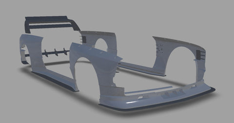 CAD Model of BMW E30 Widebody Kit