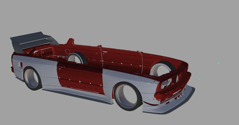 BMW E30 3D Scan with CAD