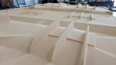 CNC Cut Tooling Foam for Fiberglass Mold