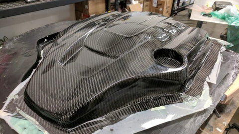 Maserati Engine Cover Carbon Fiber Untrimmed Part