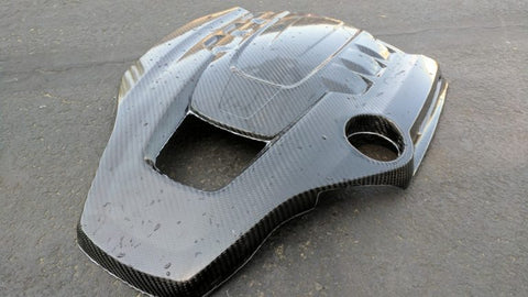 Maserati Engine Cover Carbon Fiber Finished