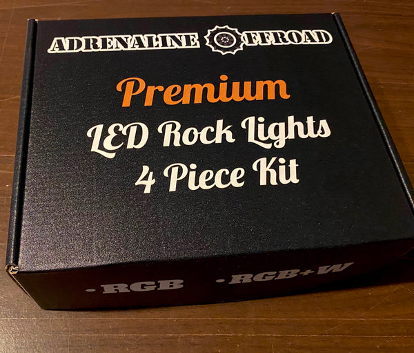 4 Piece Multi-Color Rock Light Kit - Adrenaline Offroad Outfitters