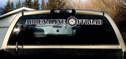 "34"" Huge Adrenaline Decal (Back Glass) - Adrenaline Offroad Outfitters"