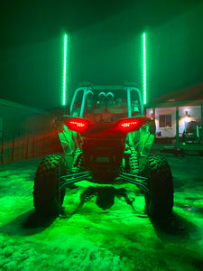 RGB ULTRA FLOW Whip Lights (Pair) - Adrenaline Offroad Outfitters