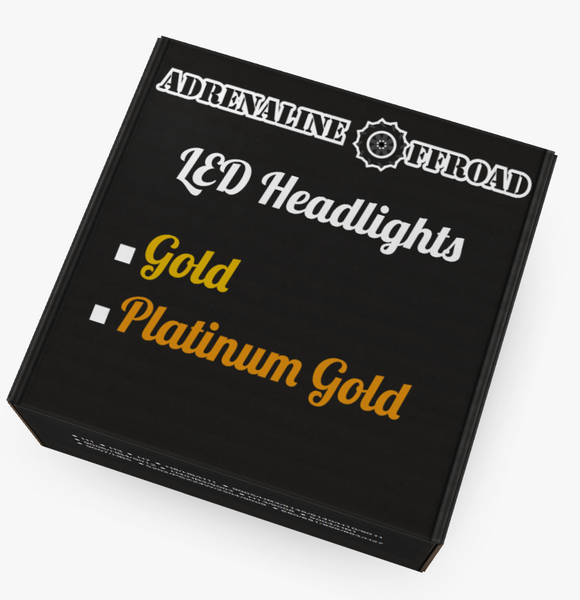Platinum Gold Edition LED Headlights (Pair) - Adrenaline Offroad Outfitters
